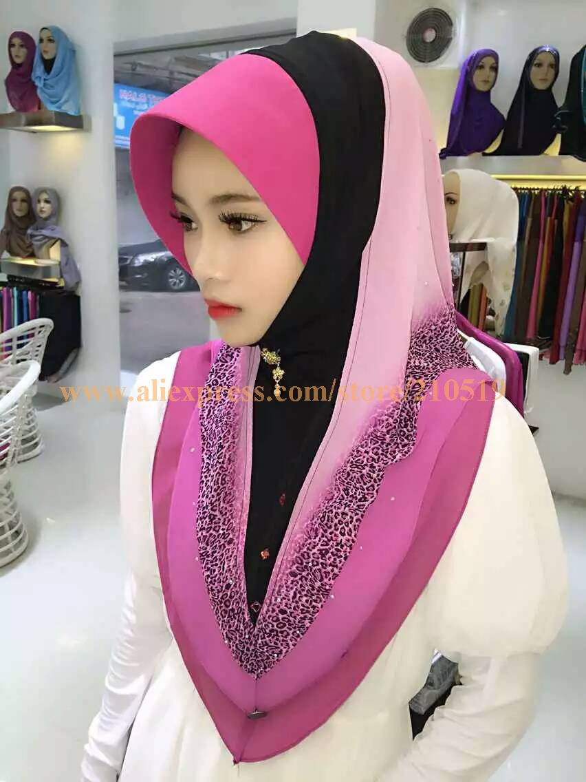 10pcs Bag Printed Leopard Muslim Hijab Fashion Scarf Elegant Malaysia Arab Hijab In Islamic