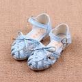 Девушки сандалии 2016 летние новые детские сандалии дети лук сандалии девушки тканые повседневная обувь