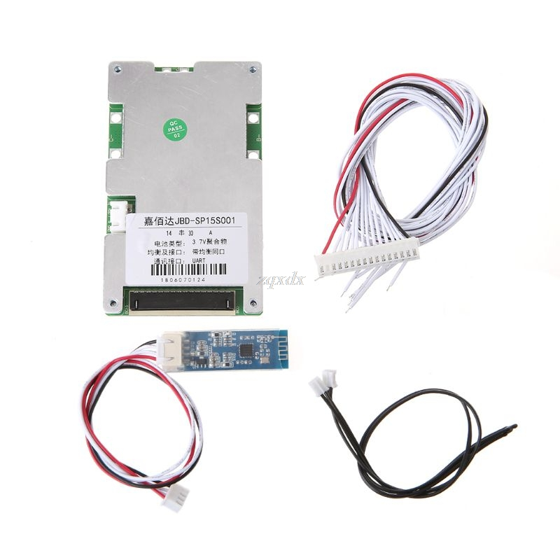 Lithium Battery Protective Board With Bluetooth 14S BMS PCB Mobile Static Current Intelligent 48V Components Smart