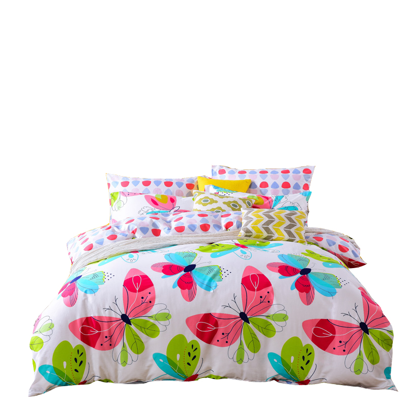 Modern Bedding Homes Butterfly Duvet Cover Linen Bed Sheets Home Quilt Cover Twin Bed