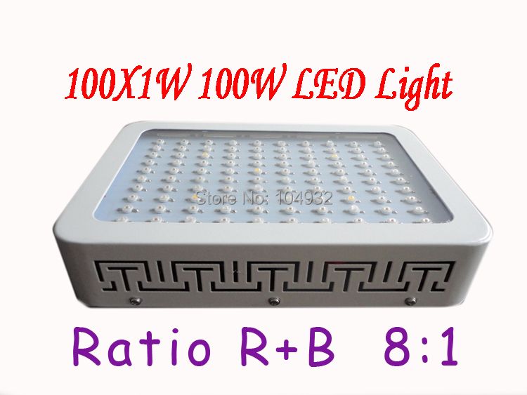new 1x 100W LED Grow Light 100*1W Dropshipping Hot selling Red blue 8:1 Indoor Hydroponic System Plant Ufo HOT!