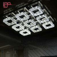 New Flush Mount Modern LED Ceiling Lights Lustre Ceiling Lamp For Home Crystal Lighting