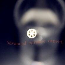 99.5% al2o3 высокое Термальность корунд трубки OD5* id0.8mm/круглый шесть-диаметр трубки глинозема/Изоляционные Керамики для термопар Датчики