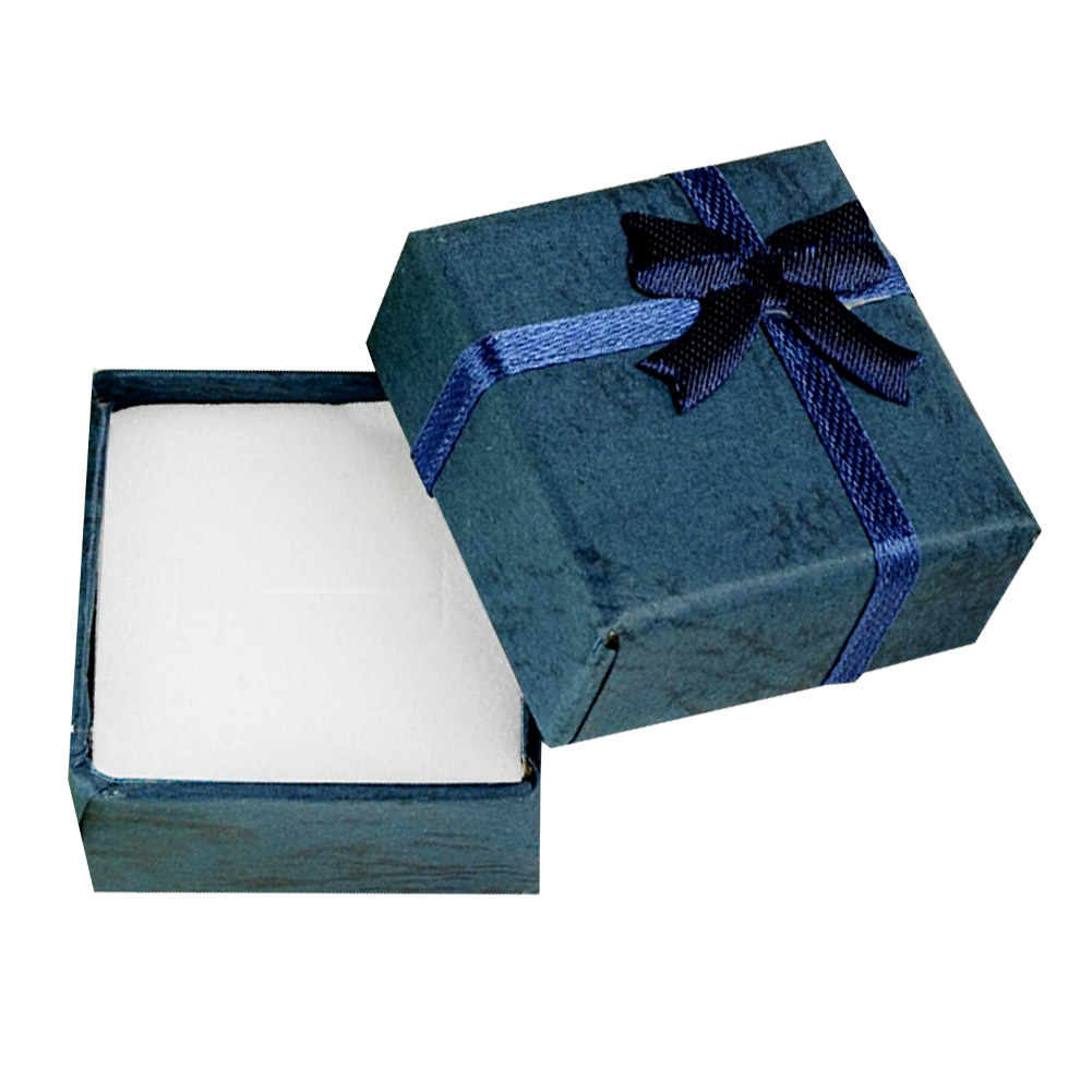 Cheap 4*4*3cm Jewelry Ring Earring Bracelet Ring Small Gift Box Royalblue Square Carton Case ES4539