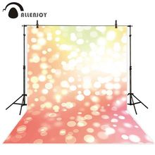 Allenjoy خلفية للتصوير الفوتوغرافي الاحترافي ، مصباح فلاش لامع ، برتقالي ، أصفر ، خلفية بوكيه ، كشك تصوير