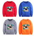 British Animated Film Shaun the Cartoon Sheep Long Sleeve T Shirts for Boys Girls Winter Plus Velvet Hooded Coats Kids Clothes