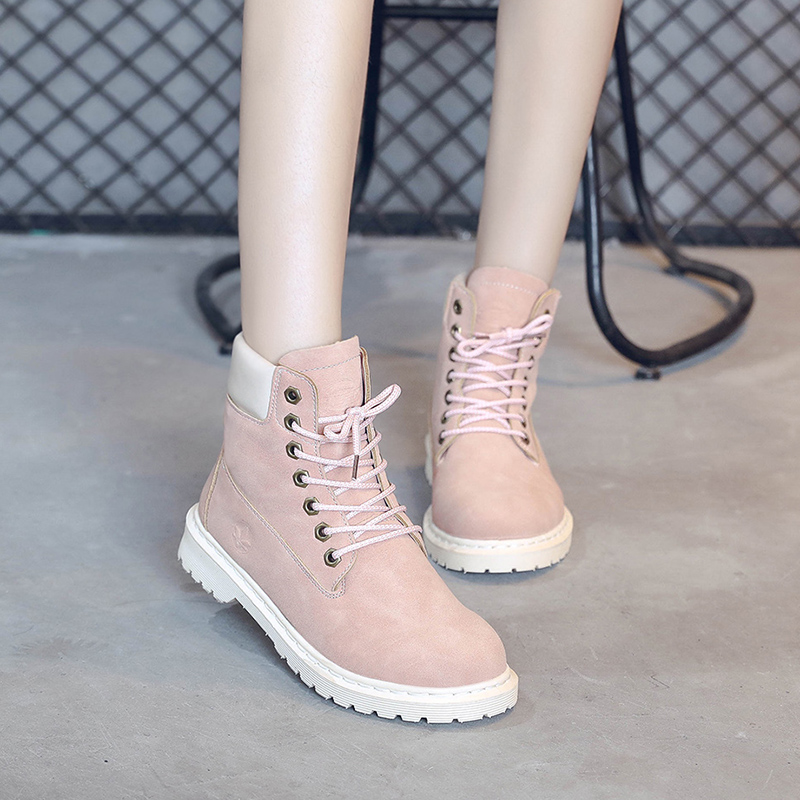 5d74e0bb231 FUJIN Brand Women Ankle Boots 2019 Fashion Shoes Big Size Lace Up Round Toe  Female Sheos Comfortable for Women Shoes Plus Size-in Ankle Boots from  Shoes on ...