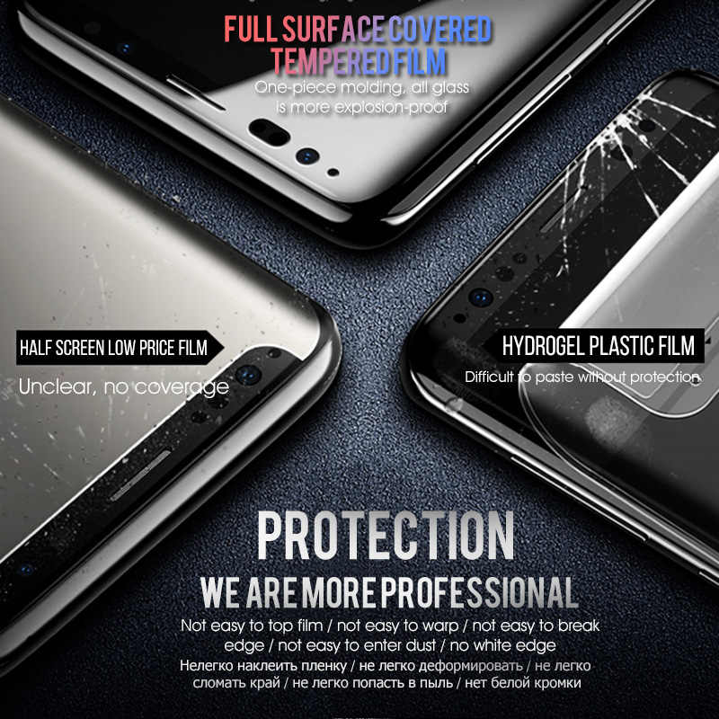 9D Tempered Glass For Samsung Galaxy M50 M30 M20 M10 A9 2019 A70 A50 A40 A30 A10 A6 J4 J6 Plus A7 2018 Full Screen Protector