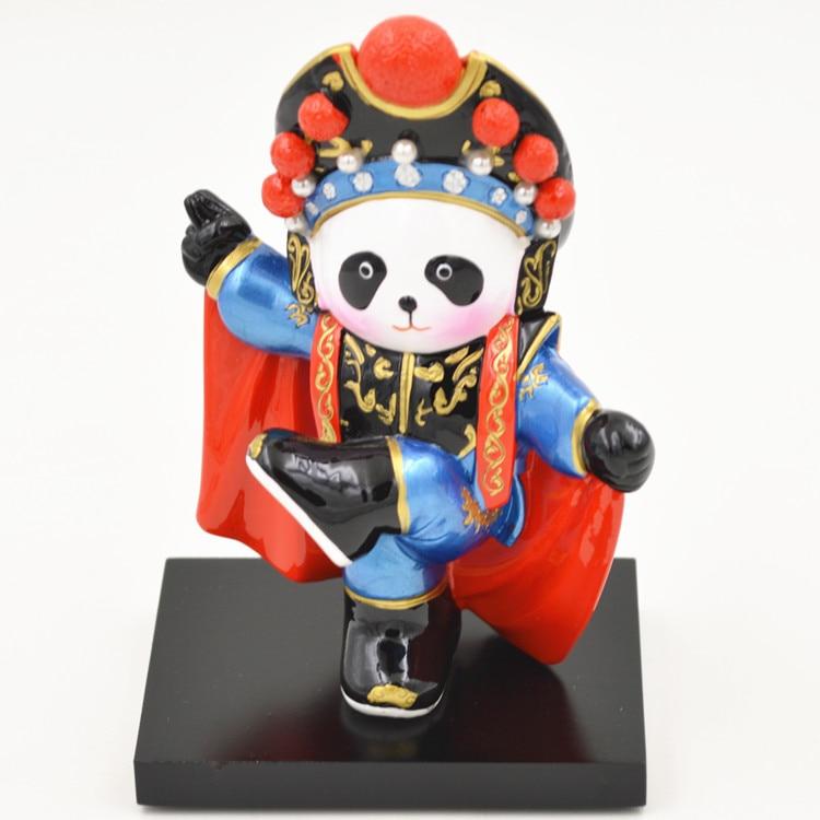 Kung Fu Panda Nan Quan North Leg Q Version Of Peking Opera Cartoon Desktop Ornaments Home Decoration Crafts Holiday Gifts