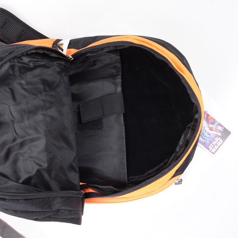 view of the inside of star wars rebels school backpack