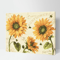 MaHuaf-W1377 Sunshine Sunflower painting coloring by numbers new arrival unique gift digital oil painting for living room