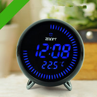 Large LED Digital Circling Table Alarm Clock Electronic Desk Clocks Modern Design Home Decor Silent 3D Watch With Temperature