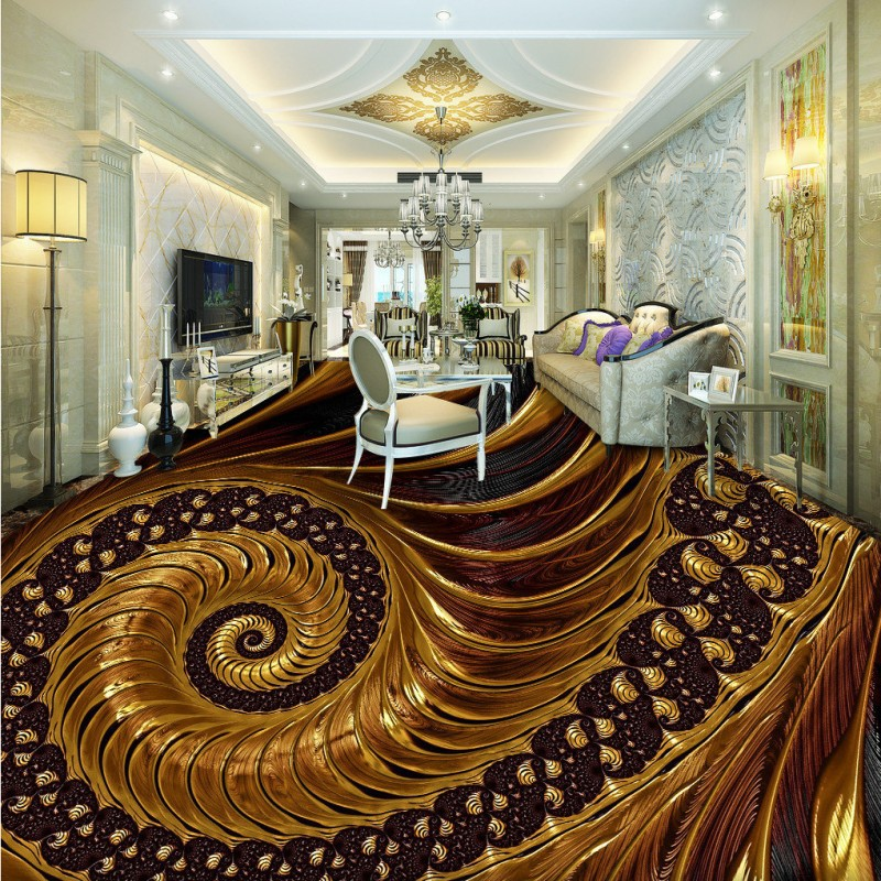 Free shipping Noble abstract living room bedroom 3D floor painting custom anti-skidding thickened bathroom wallpaper flooring free shipping photo floor bathroom thickened custom living room stereoscopic wallpaper flooring 3d paper cut pattern floor
