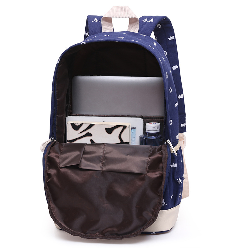 YK-Leik Girl School Bags For Teenagers backpack set women shoulder travel bags 3 Pcs/Set rucksack mochila knapsack