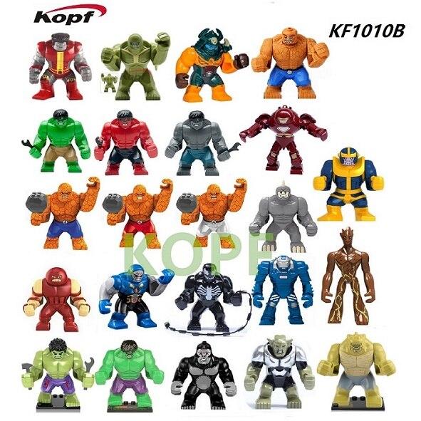 Single Sale Building Blocks 7Cm Lady Dogshank Fantastic Four Thanos Colossus Hulk Juggerna Bricks Toys For Children KF1010B