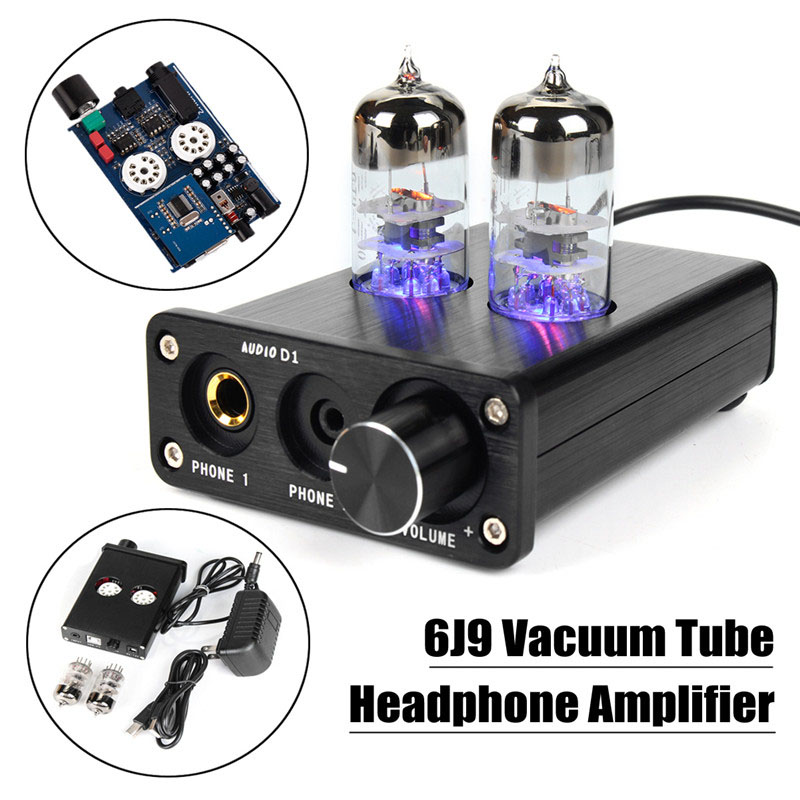 New Mini 6J9 Vacuum Tube Headphone Amplifier USB DAC Stereo Audio Hi-Fi Amp AC100-240V music hall xiangsheng dac 01a xmos u8 usb dac tube stereo d a converter headphone amplifier