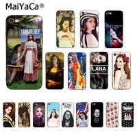 MaiYaCa Sexy cantante modelo Lana Del Rey Mona Lisa caso para iPhone 7 XS MAX teléfono caso para iPhone 8 7 6 6 S Plus X 5S SE XR XS