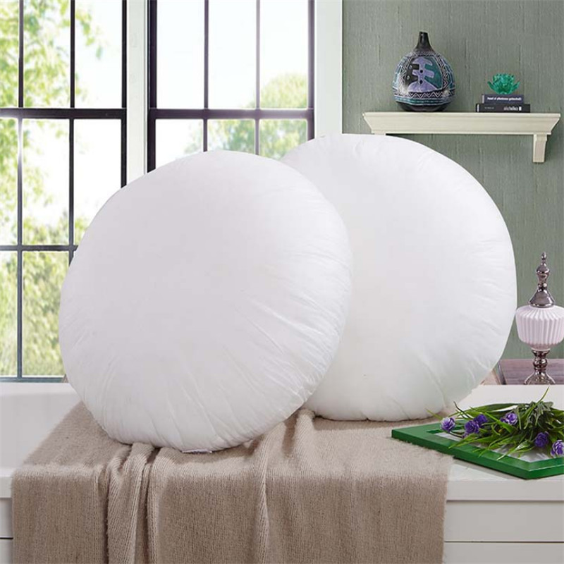 White Round Nonwoven Soft Cushion Insert <font><b>Pillow</b></font> Inner Filler Cushion Filling Home Decoration Christmas Gift