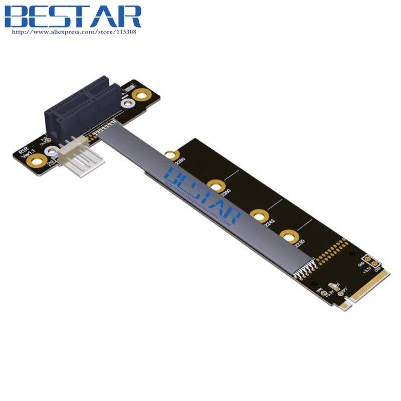 M2 NVME для PCIe 3.0 1x 16x стояк Графика удлинитель 25 см 35 см 45 см 55 см 1ft 2ft, m.2 NGFF pci-e 1x локоть gen3.0 8 Гбит/с