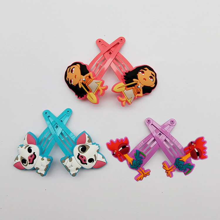 2 PCS Ocean Princess Cartoon BB Clips Girls Hair Accessories Kids Hairpins Children Headwear Baby Hair Clips Headdress minnie mouse ears baby girl hair clip children clips accessories kids cute hairclip for girls hairpins hair clips pins menina