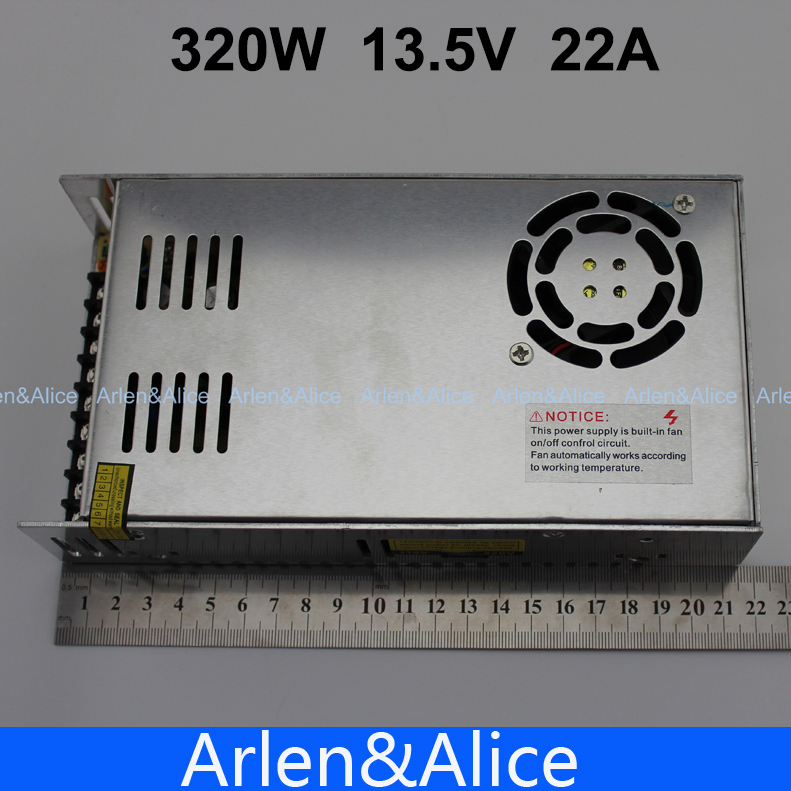 320W 13.5V 22A Single Output Switching power supply for LED Strip light AC to DC 110V 200V selected by switch 20w 24v 1a ultra thin single dc output switching power supply for led strip light smps