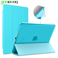 For Ipad Air 1 Air 2 Ipad 5 6 TPU Soft Smart Case PU Leather Glitter