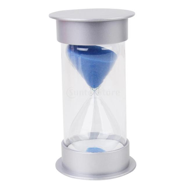 Ten Minutes Hourglass Sandglass Sand Timer Home Decor Silver Lid
