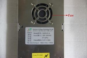 Image 2 - Fuente de alimentación de pantalla LED especial con entrada de 220VAC ultrafina de ventilador, fuente de alimentación conmutada de salida de 5V 60A 300W