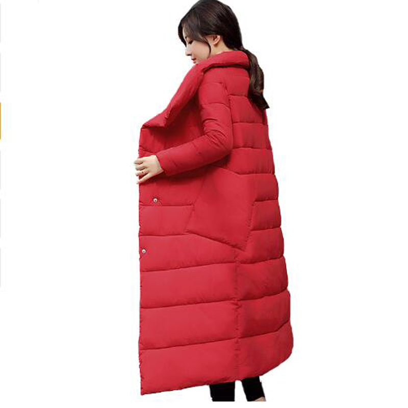 2019 New Winter long   Parka   Women's Warm Outwear Cotton Padded jacket stand collar Thickening Female coat