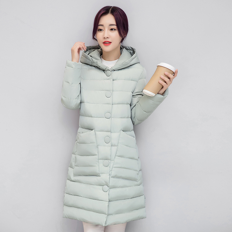 ФОТО 2017 new winter coat long thick padded knee down coat jacket plus size parka manteau femme chaquetas mujer