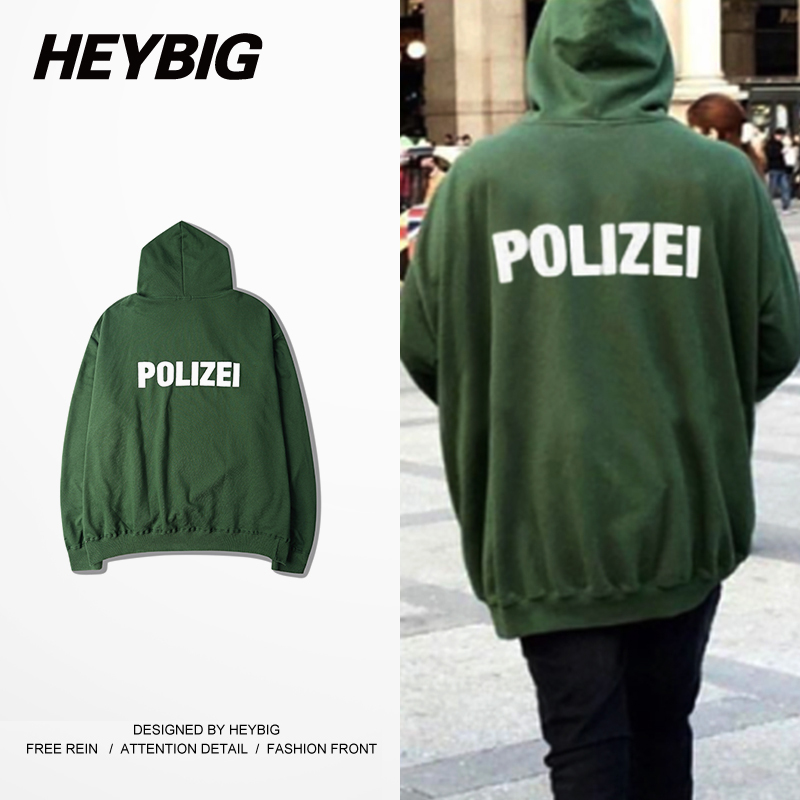 2d3423c867fd36 Oversize Hood German Police letter Print Youth funny Sweatshirts 2016  HEYBIG hiphop Hoodies Bat sleeved men Streetwear CN size-in Hoodies    Sweatshirts from ...