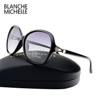 2017 High Huality Gradient Lens Sunglasses Women Polarized Brand Designer UV400 Sun Glasses Woman Diamond Decoration