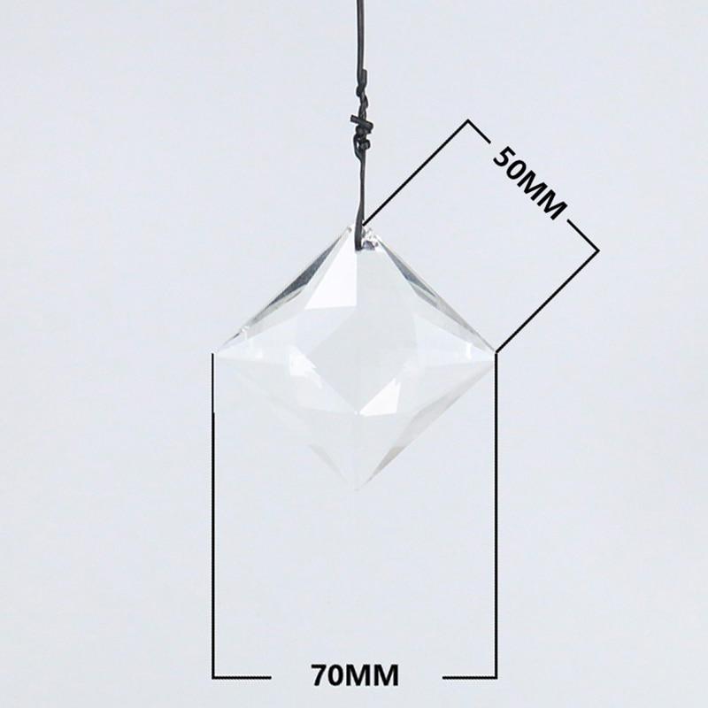 75 мм Стеклянная художественная граненая Хрустальная Призма люстра квадратная подвеска орнамент Декор окна 3.0in