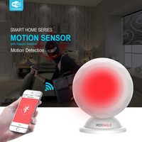 WiFi PIR Motion Sensor Wireless Passive Infrared Motion Sensor Alarm Dectector with Magnet Bracket