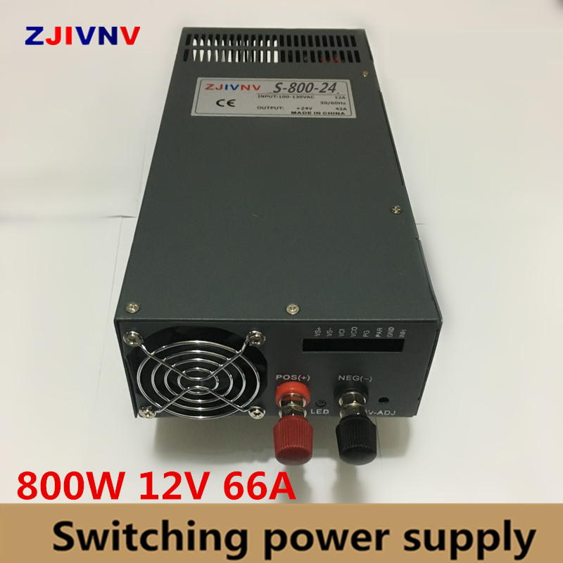 Switching Power Supply 800w 12v 66a,Single Output ac-dc 12 v power supply housing SMPS For CNC Machine DIY LED Lamp CCTV