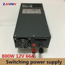 Comutação da fonte de Alimentação 800 w 12 v 66a, Única Saída ac-dc 12 v caixa da fonte de alimentação SMPS Para A Máquina CNC DIY CONDUZIU a Lâmpada CCTV