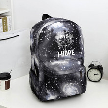 BTS Bangtan niños mochila, coreano kpop estrellas bolso de escuela, niños niñas lienzo portátil libro satchel, V, Rap Monstruo, JIN, SUGA