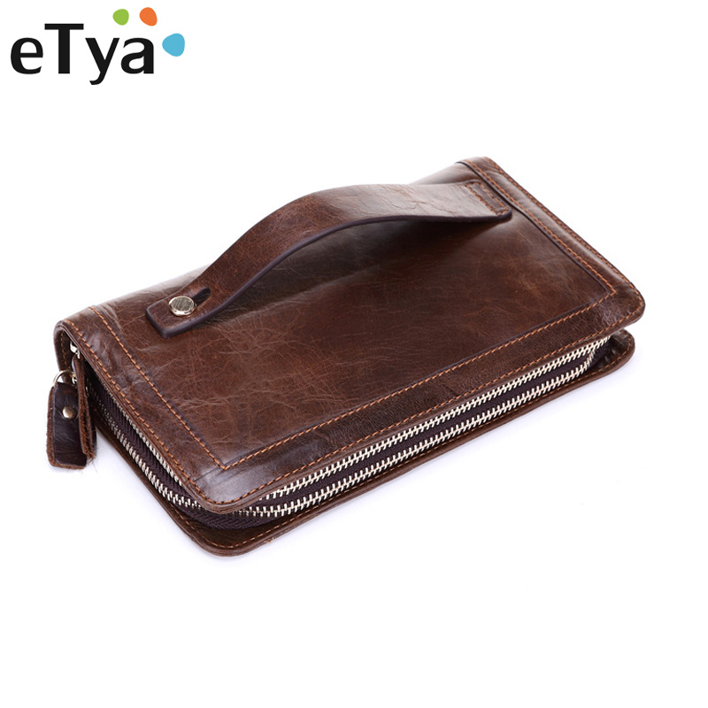 все цены на Fashion Men Multifunction Wallets Men's Long Purse High capacity Wallet Male Clutch Genuine leather Zipper Coin bag Card Holder