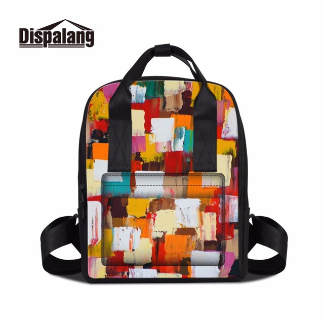 Dispalang Colorful Backpack Pattern for Teen Girls Fashion School ...