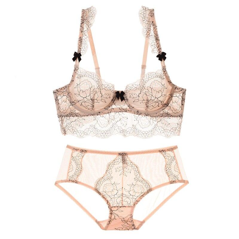 Shaonvmeiwu Spitze sexy transparent seductive dessous set damen auf die unterstützung bh ultra-dünne sehen-durch bh