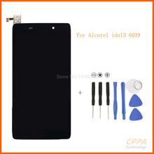 Black Full LCD display + Touch screen digitizer assembly For Alcatel One Touch Idol 3 4.7 LTE 6039 6039A 6039K 6039Y  +  tools
