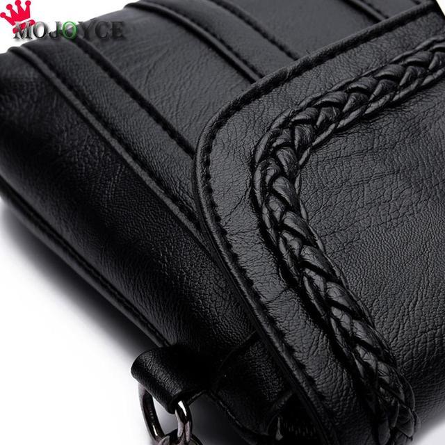 Women Solid Sling Crossbody Handbags PU Leather Ladies Small Shoulder Messenger Bags Female Pure Color Casual Soft PU Handbag 2