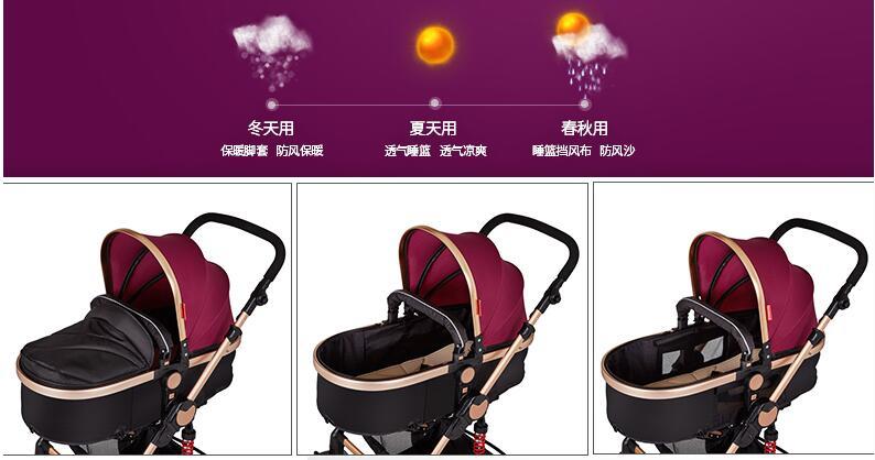 Oley luxus baby falten kinderwagen mode stil gummireifen