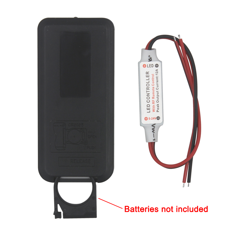 Brezplačna dostava 12A 5V-24V LED RF brezžični daljinski regulator - Pribor za razsvetljavo - Fotografija 2