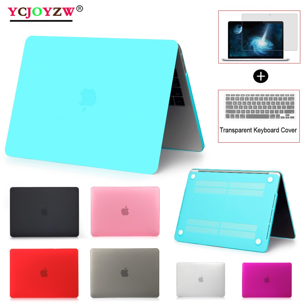 YCJOYZW-Laptop Case For Apple MacBook Air 13 A1932-A1466 Pro Retina 11 12 13 For Mac Book New Pro 13 Inch With Touch Bar ID