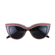 Sunglasses Cat Eye Women Fashion Sexy Crystal Rhinestone Sun Glasses Luxury Bling Eyes Retro