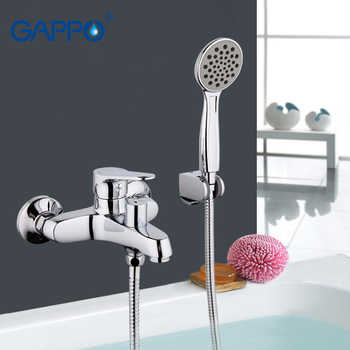 GAPPO TOP Quality Wall-mount bathroom sink faucet torneira with long spout single handle bathtub mixer in handshow GA3236 - DISCOUNT ITEM  51 OFF Home Improvement