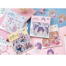 40pcs/lot Creative 1902 Girl Series Sticker Pack Stickers Decoration Diy Ablum Diary Scrapbooking Label