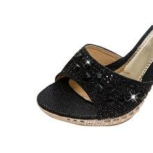 VTOTA Female Slippers High Heel Sandals Platform 2017 Rhinestone Sandalias Mujer Sapato Feminino Women Shoes Slippers Women R43