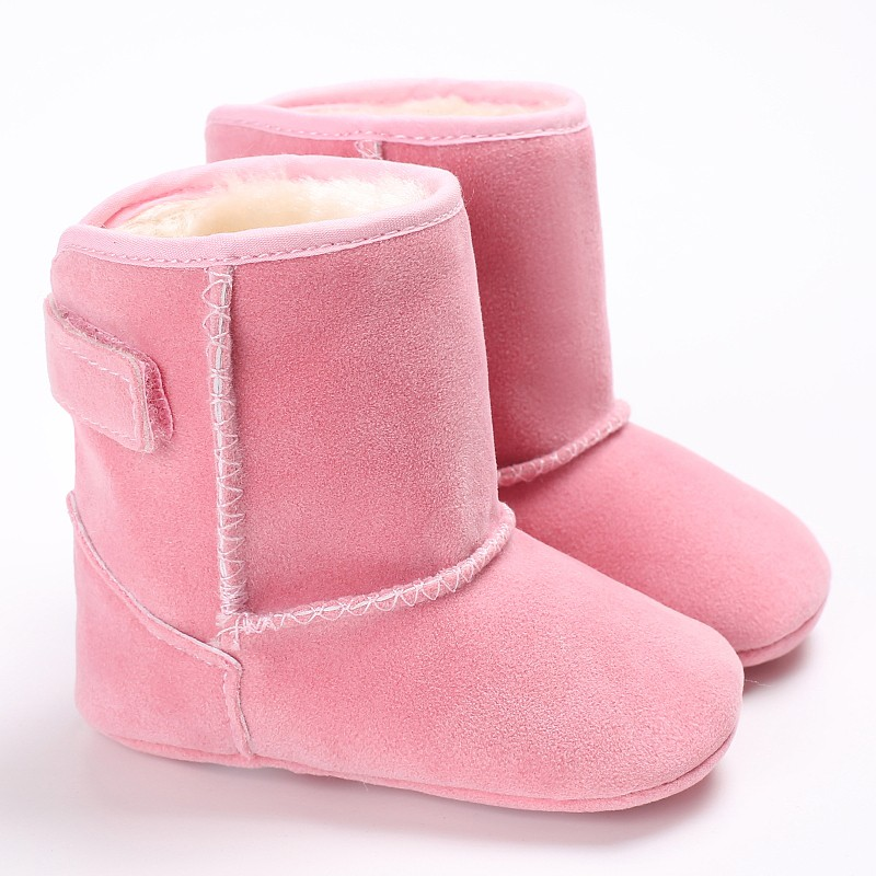 Baby Girl Winter Snow Boots Fleece Baby shoes Toddler Wool Infant Warm Soft Sole First Walkers Cotton Bottom Shoes